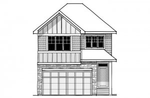 Cottonwood - SP - Rustic S2 Elevation - 2,499 sqft, 4 Bedroom, 3.5 Bathroom - Cardel Homes Calgary
