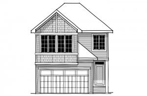 Cottonwood - SP - Shingle S1 Elevation - 2,499 sqft, 4 Bedroom, 3.5 Bathroom - Cardel Homes Calgary