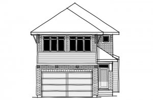 Linden - SP - Prairie S3 Elevation - 2,882 sqft, 4 Bedroom, 3.5 Bathroom - Cardel Homes Calgary