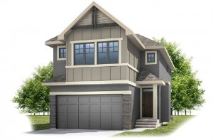 Linden - SP - Rustic S2 Elevation - 2,882 sqft, 4 Bedroom, 3.5 Bathroom - Cardel Homes Calgary