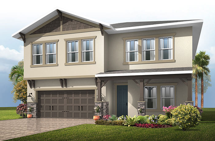 New home in NEWHAVEN 2 in Waterset, 2,550 SQFT, 4 Bedroom, 2.5 Bath, Starting at 329,990 - Cardel Homes Tampa