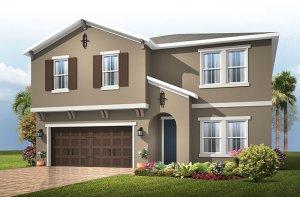 Newhaven 2 - Mediterranean Elevation - 2,550 sqft, 4 Bedroom, 2.5 Bathroom - Cardel Homes Tampa