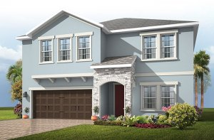 Newhaven 2 - Provincial Chateau Elevation - 2,550 sqft, 4 Bedroom, 2.5 Bathroom - Cardel Homes Tampa