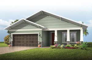 Southampton 2 - Craftsman Elevation - 2,500 sqft, 4 - 5 Bedroom, 3 Bathroom - Cardel Homes Tampa