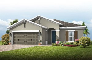 Southampton 2 - Traditional Cottage Elevation - 2,500 sqft, 4 - 5 Bedroom, 3 Bathroom - Cardel Homes Tampa