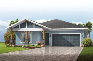 Northwood 2 - Craftsman Elevation - 2,200 - 2,708 sqft, 3 - 4 Bedroom, 2 - 3 Bathroom - Cardel Homes Tampa