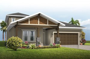 Northwood 2 - Craftsman with Option #5 Elevation - 2,200 - 2,708 sqft, 3 - 4 Bedroom, 2 - 3 Bathroom - Cardel Homes Tampa