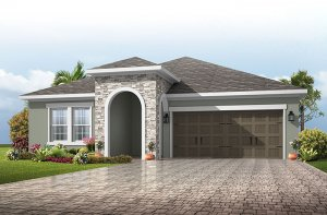 Northwood 2 - Provincial Chateau Elevation - 2,200 - 2,746 sqft, 3 - 4 Bedroom, 2 - 3 Bathroom - Cardel Homes Tampa