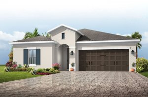 Northwood 2 - Traditional Cottage Elevation - 2,200 - 2,708 sqft, 3 - 4 Bedroom, 2 - 3 Bathroom - Cardel Homes Tampa