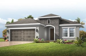Brighton 2 - Provincial Chateau Elevation - 2,010 sqft, 3-4 Bedroom, 2 Bathroom - Cardel Homes Tampa
