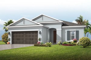 Brighton 2 - Traditional Cottage Elevation - 2,010 sqft, 3-4 Bedroom, 2 Bathroom - Cardel Homes Tampa