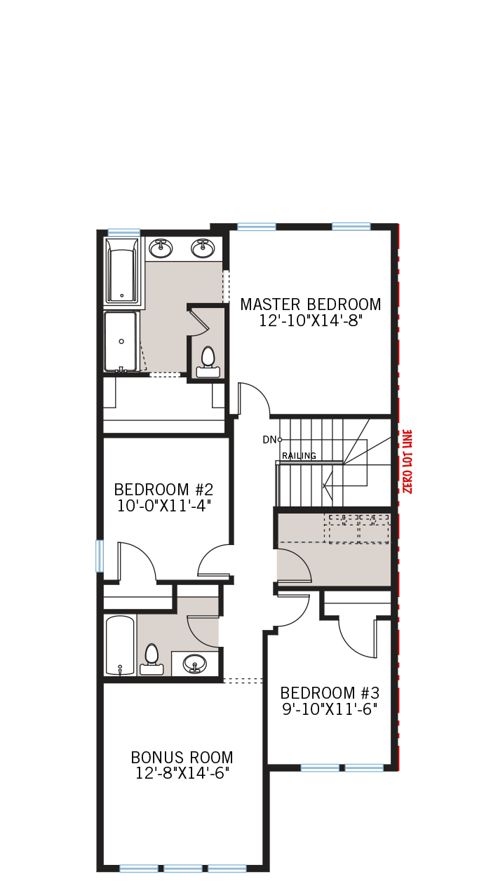 The Strand home upper floor quick possession in Walden, located at 329 Walgrove Terrace SE Calgary Built By Cardel Homes
