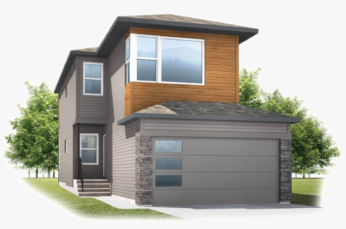 New Calgary Single Family Home Sereno 2 in Shawnee Park, located at 333 Walgrove Terrace SE Built By Cardel Homes Calgary