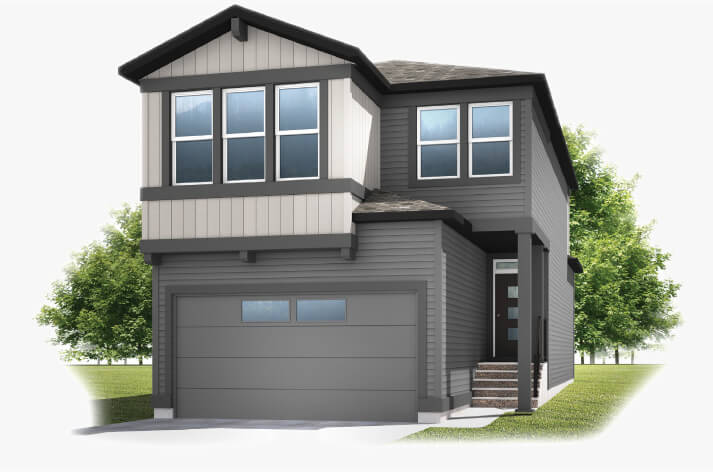 New Calgary Single Family Home Quick Possession Miro 2 in Shawnee Park, located at 347 Shawnee Blvd SW Built By Cardel Homes Calgary