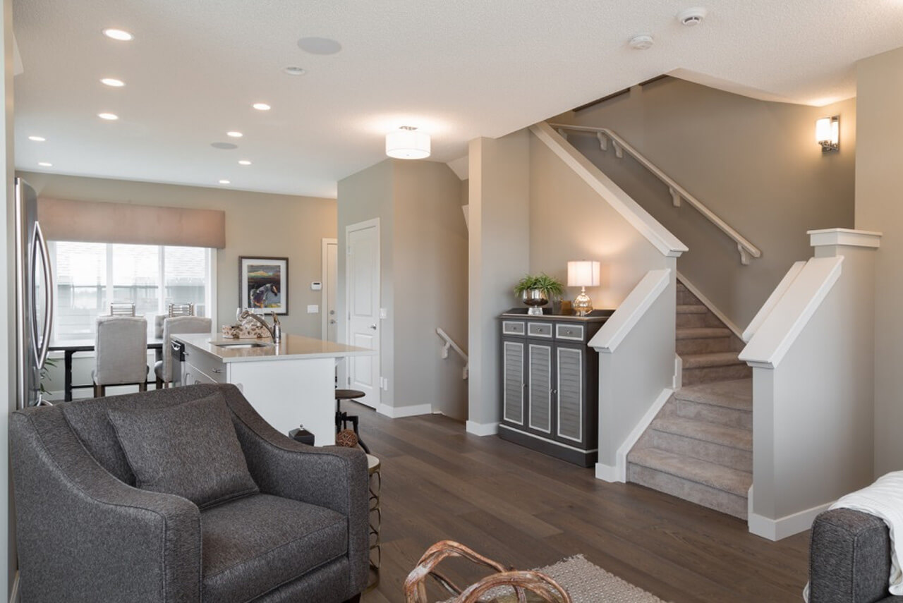 New Calgary Paired Home Quick Possession Cobalt 1 in Walden, located at 12 WALGROVE DRIVE SE Built By Cardel Homes Calgary