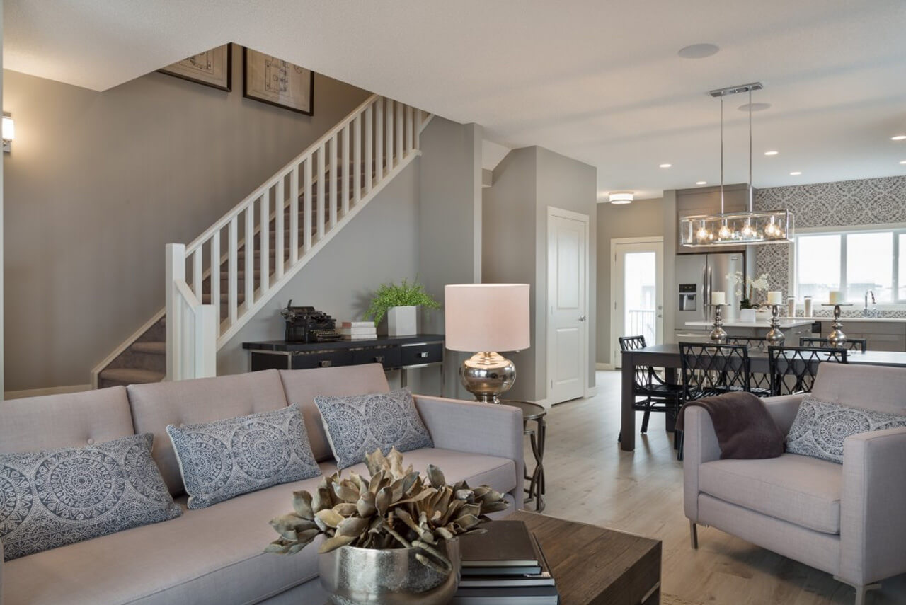 New Calgary Paired Home Quick Possession Indigo 1 in Walden, located at 16 WALGROVE DRIVE SE Built By Cardel Homes Calgary