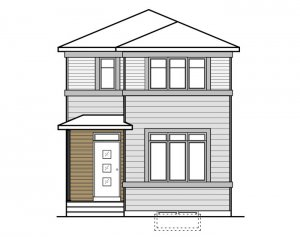 REENA - Elevation F1 Elevation - 1,233 sqft, 3 Bedroom, 2.5 Bathroom - Cardel Homes Calgary