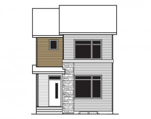 REENA - Elevation F2 Elevation - 1,233 sqft, 3 Bedroom, 2.5 Bathroom - Cardel Homes Calgary