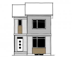 SAGE - Elevation F1 Elevation - 1,427 sqft, 3 Bedroom, 2.5 Bathroom - Cardel Homes Calgary