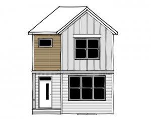 SAGE - Elevation F2 Elevation - 1,427 sqft, 3 Bedroom, 2.5 Bathroom - Cardel Homes Calgary
