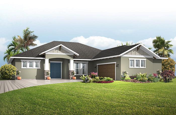 Martin PRES - Craftsman Elevation - 2,805 sqft, 3-4 Bedroom, 3 Bathroom - Cardel Homes Tampa