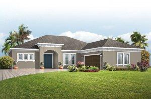 Martin PRES - Mediterranean Elevation - 2,805 sqft, 3-4 Bedroom, 3 Bathroom - Cardel Homes Tampa