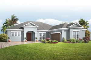 Martin PRES - Traditional Elevation - 2,805 sqft, 3-4 Bedroom, 3 Bathroom - Cardel Homes Tampa