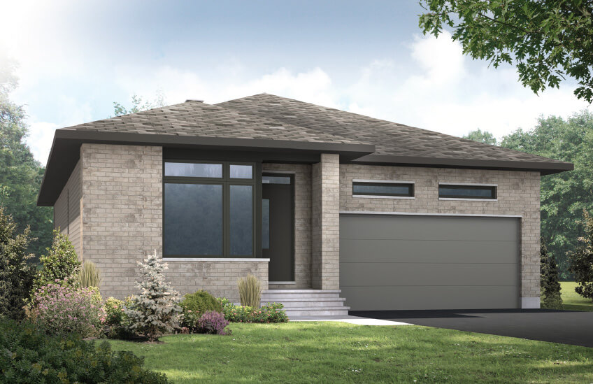 New Ottawa Single Family Home Quick Possession Lancaster in Blackstone in Kanata South, located at 144 Groningen St, Kanata Built By Cardel Homes