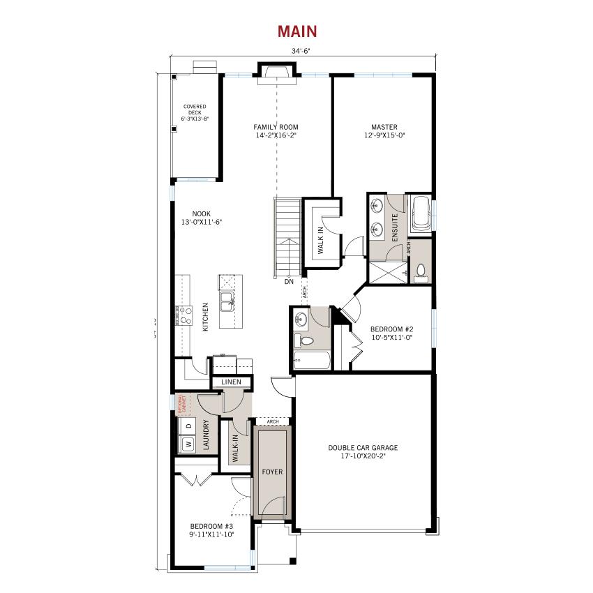 New Ottawa Single Family Home Quick Possession Lancaster Floorplan in Blackstone in Kanata South, located at 144 Groningen Street, Kanata Built By Cardel Homes Ottawa