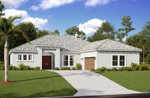 Martin 2.0-Mediterranean Elevation - 2,805 sqft, 3-4 Bedroom, 3 Bathroom - Cardel Homes Tampa