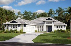 Martin-West Indies Elevation - 2,805 sqft, 3-4 Bedroom, 3 Bathroom - Cardel Homes Tampa