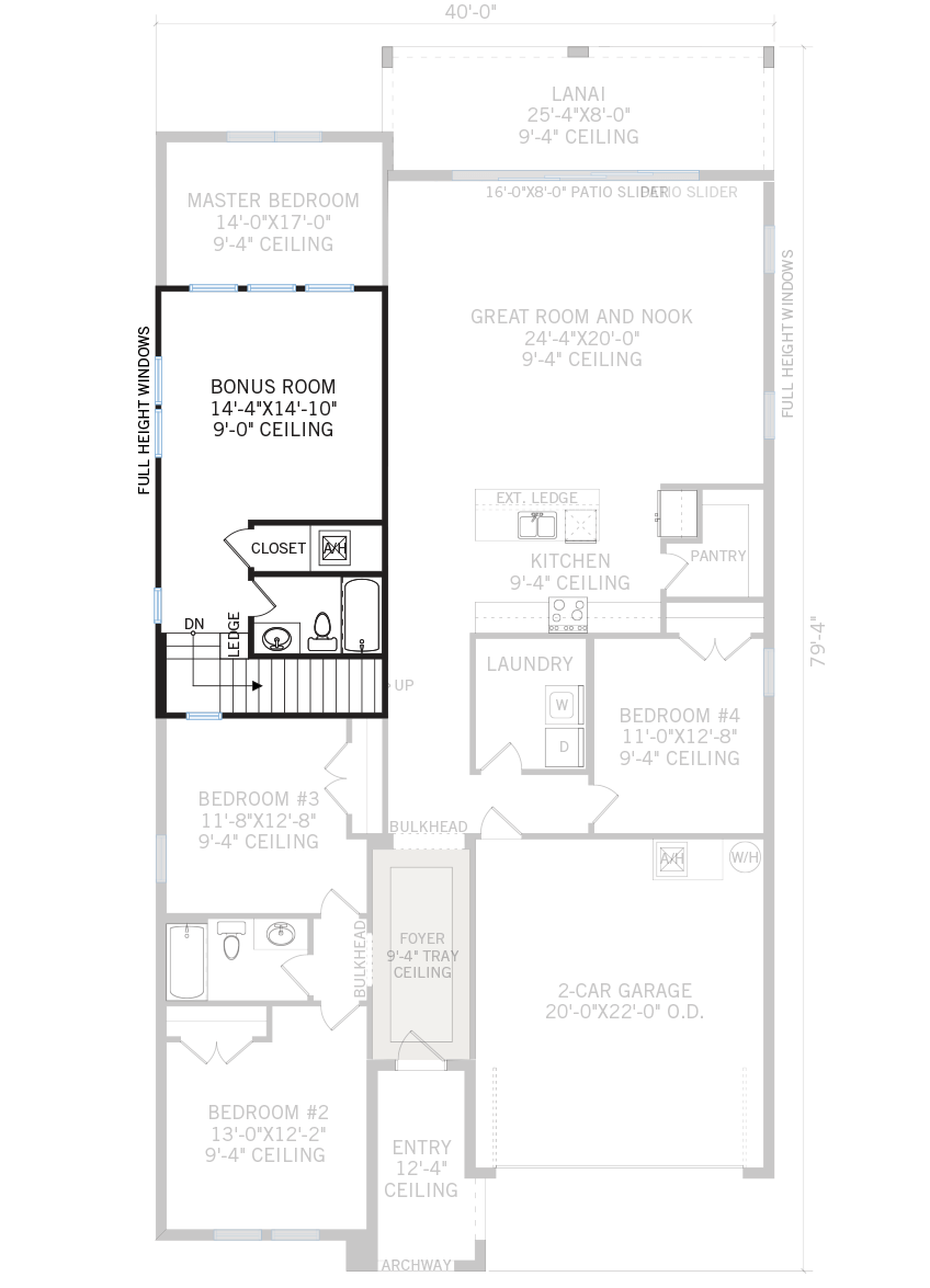 New Tampa Single Family Home Quick Possession Northwood 2 Floorplan in Waterset, located at 5419 SILVER SUN DRIVE, <br /> APOLLO BEACH, FL 33572 (50 ft lot) Built By Cardel Homes Tampa