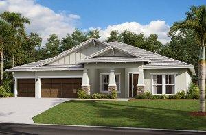 Savannah 2.0-Craftsman Elevation - 3,308 sqft, 4 Bedroom, 3 Bathroom - Cardel Homes Tampa
