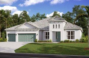 Savannah 2.0-Mediterranean Elevation - 3,308 sqft, 4 Bedroom, 3 Bathroom - Cardel Homes Tampa