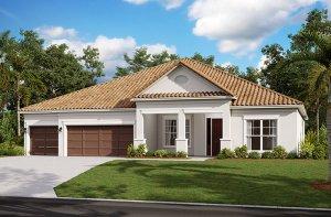 Savannah 2.0-Traditional Elevation - 3,308 sqft, 4 Bedroom, 3 Bathroom - Cardel Homes Tampa