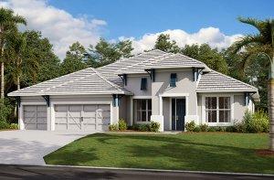 Savannah-West Indies Elevation - 3,308 sqft, 4 Bedroom, 3 Bathroom - Cardel Homes Tampa