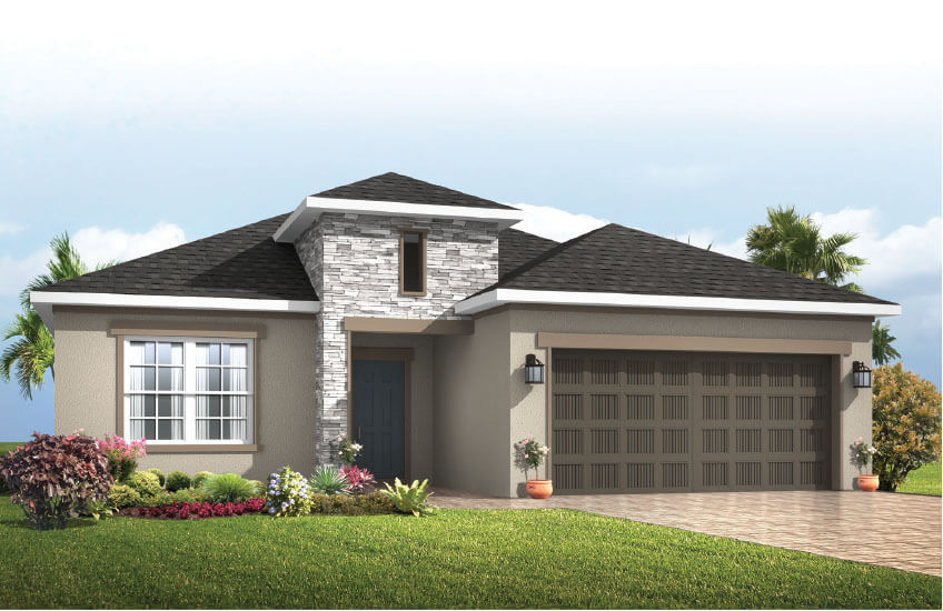 New Tampa Single Family Home Quick Possession Southampton in Sandhill Ridge, located at TANNER RIDGE PLACE, <br />
