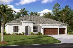 Wesley 2.0-Mediterranean Elevation - 2,830 - 3,228 sqft, 4 Bedroom, 3-4 Bathroom - Cardel Homes Tampa