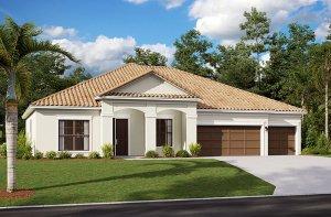 Wesley 2.0-Traditional Elevation - 2,830 - 3,228 sqft, 4 Bedroom, 3-4 Bathroom - Cardel Homes Tampa