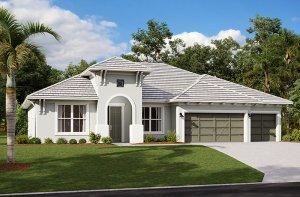 Wesley 2.0-West-Indies Elevation - 2,830 - 3,228 sqft, 4 Bedroom, 3-4 Bathroom - Cardel Homes Tampa