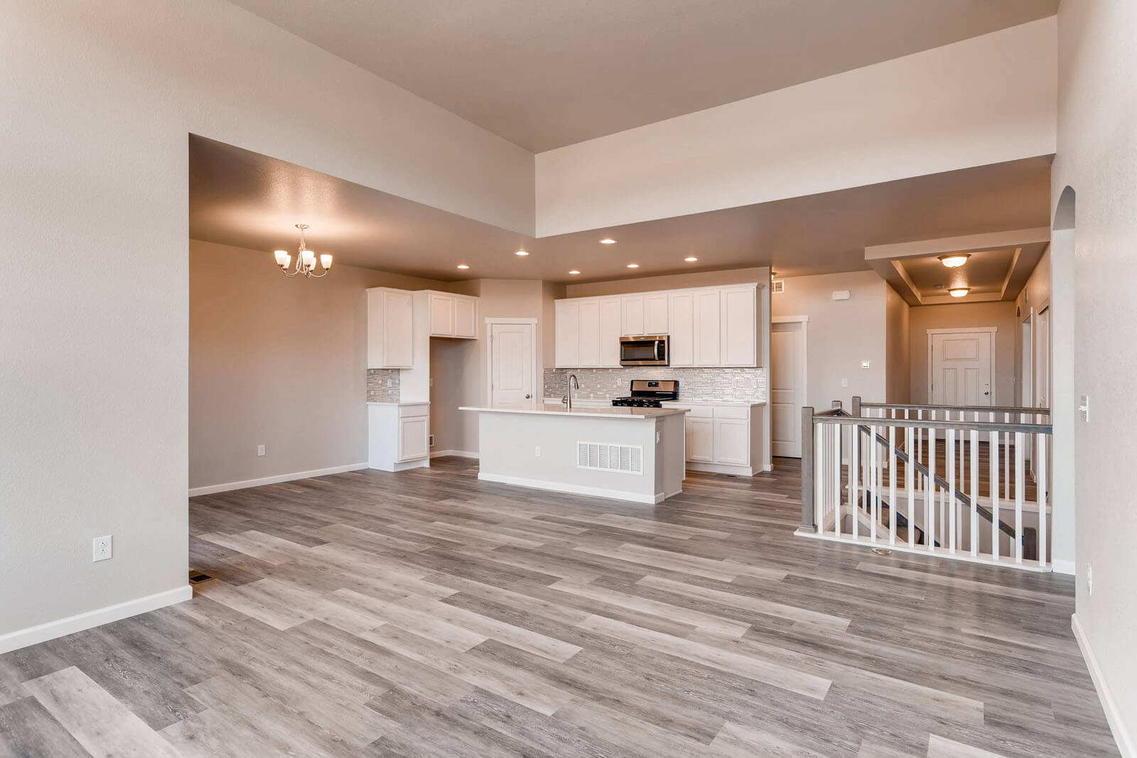 New Denver Single Family Home Quick Possession Ponderosa in Lincoln Creek, located at 11915 Barrentine Loop, Parker Built By Cardel Homes Denver