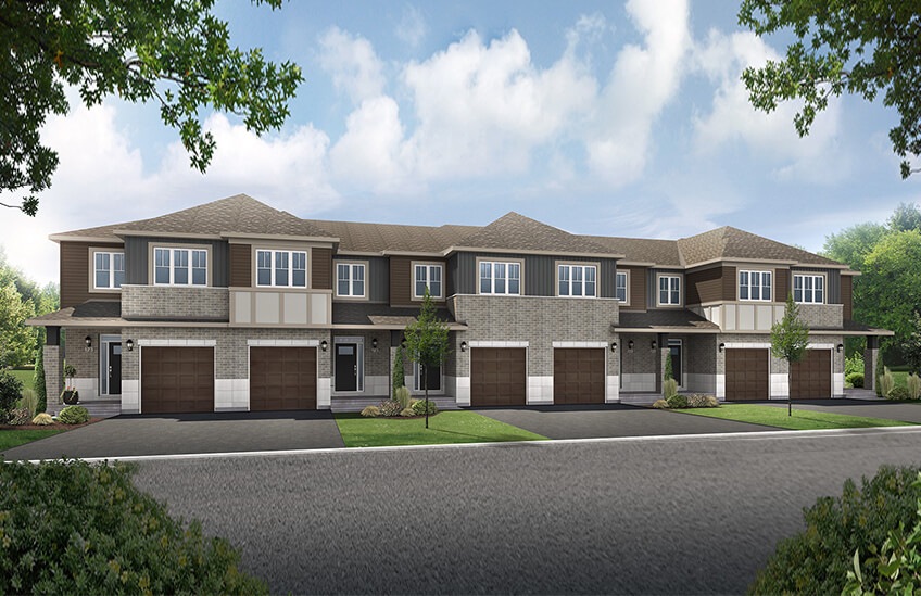 New Ottawa Towns Home Quick Possession Alder in Millers Crossing in Carleton Place, located at 27 Riddell St, Carleton Place Built By Cardel Homes