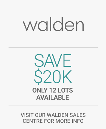 Save 20,000 dollars on a Walden Paired home. Only 12 lots available