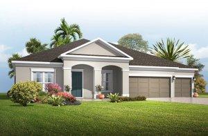 Wesley ENCL - Traditional Elevation - 3,070 - 3,228 sqft, 4 Bedroom, 4 Bathroom - Cardel Homes Tampa