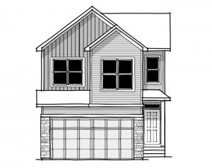 Rohan 1 - Farmhouse C3 Elevation - 2,202 sqft, 4 Bedroom, 2.5 Bathroom - Cardel Homes Calgary