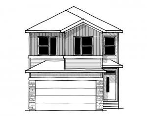 Rohan 1 - Urban Craftsman A1 Elevation - 2,202 sqft, 4 Bedroom, 2.5 Bathroom - Cardel Homes Calgary