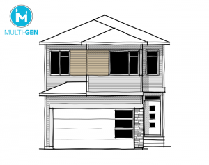 Rohan 1 - Urban Prairie A2 Elevation - 2,202 sqft, 4 Bedroom, 2.5 Bathroom - Cardel Homes Calgary