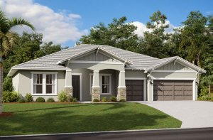 Wesley ENCL - Craftsman Elevation - 3,070 - 3,228 sqft, 4 Bedroom, 4 Bathroom - Cardel Homes Tampa