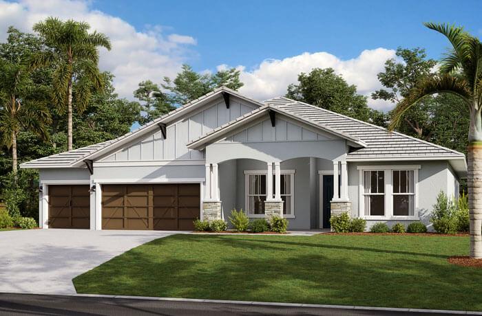 Henley ENCL - Craftsman Elevation - 3,000 - 3,939 sqft, 4-5 Bedroom, 3-4 Bathroom - Cardel Homes Tampa