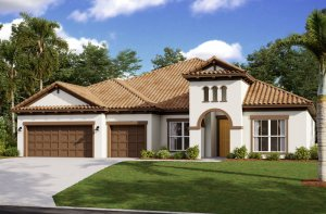 Henley ENCL - Mediterranean Elevation - 3,000 - 3,939 sqft, 4-5 Bedroom, 3-4 Bathroom - Cardel Homes Tampa
